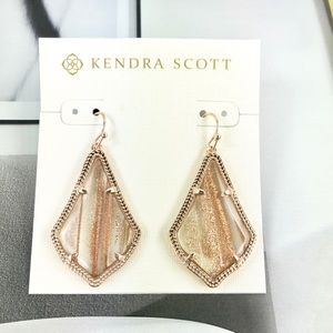 Kendra Scott Alex gold dusted rose gold earrings